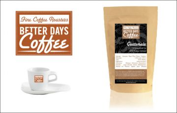 Logo und Etikett – Better Days Coffee